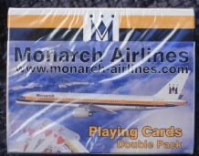 Collectable airline adverting playing cards Monarch Airlines